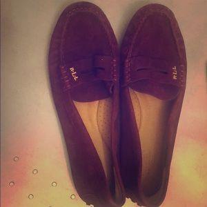 Burgundy RL Loafers